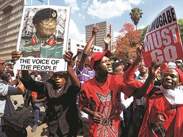 Robert Mugabe, Zimbabwe, Mugabe protestors