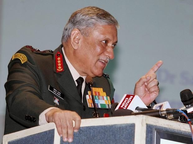 Chief of Army Staff, General Bipin Rawat addressing at the 33rd USI National Security Lecture function on 'Media as a Force Multiplier for National Security'. Photo: PTI
