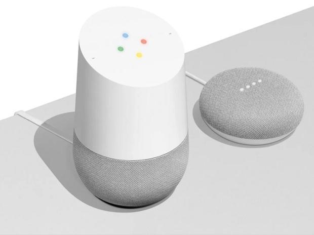 Google Home and Home Mini speakers