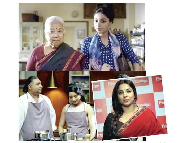 (Top) Amway targets health-conscious urban homes,   (Bottom L to R) Preethi is talking to millennial consumers and Vidya Balan is the ambassador for Prestige kitchen appliances