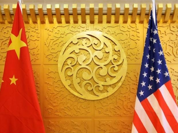 US, China, US China flag