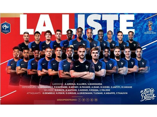 France National Team. (Photo: @equipedefrance Twitter)