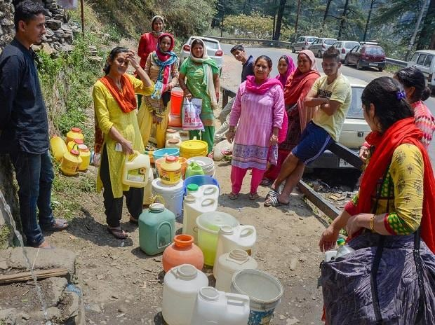 Shimla,Water crisis.protests