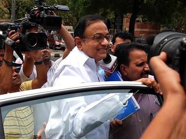 P Chiambaram arrives at the CBI Headquarters. |Photo :PTI