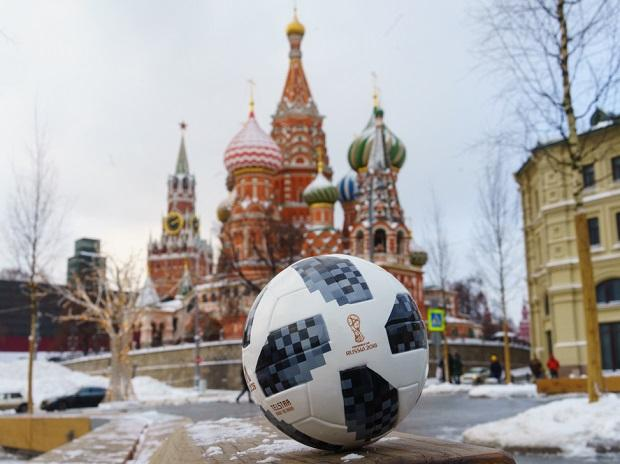 The official ball of the FIFA World Cup 2018 Adidas Telstar 18