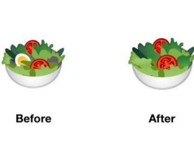 Google salad emoji