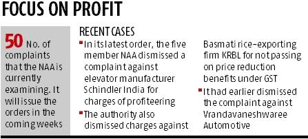 Authority's orders favour firms for anti-profiteering in times of GST
