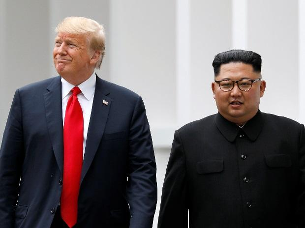 File photo | US President Donald Trump and North Korean leader Kim Jong-un at Singapore summit| Photo: Reuters