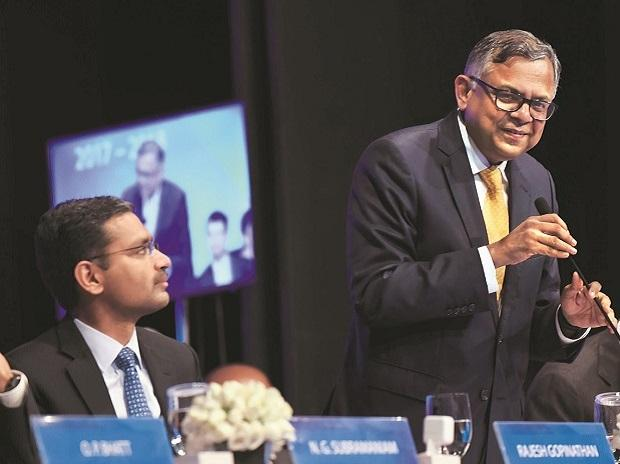 TCS MD & CEO Rajesh Gopinathan and Chairman N ...