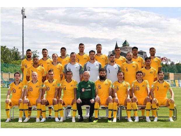 Australia footbal team. (@Socceroos  Twitter)
