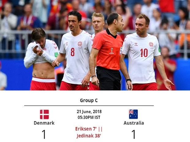 Denmark settle for just one match point despite early lead
