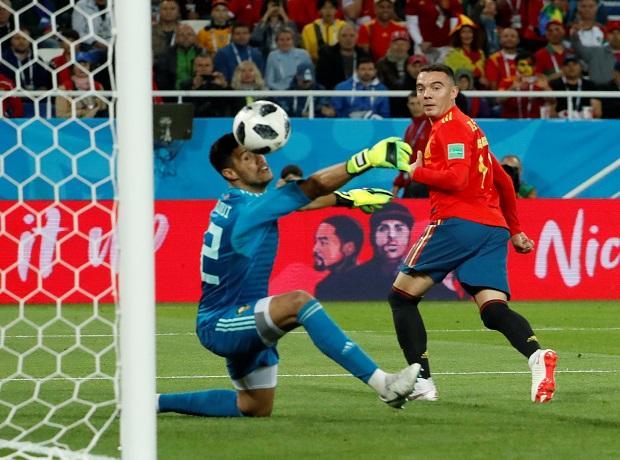 Spain vs Morocco (2-2) -- Iago Aspas (90+1)
