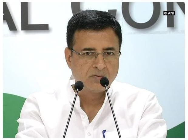 Randeep Surjewala. Photo: @ANI