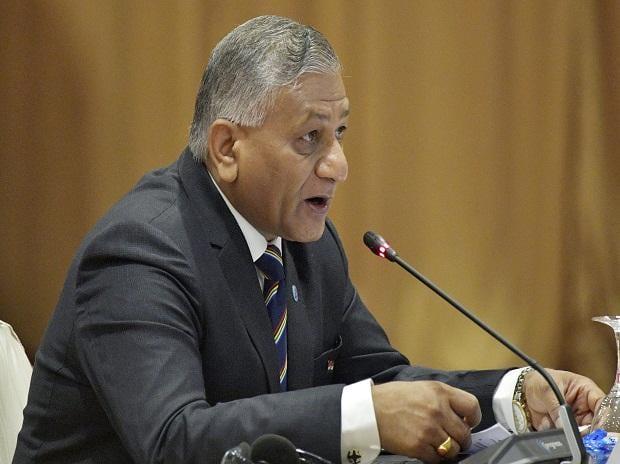 Indian Minister of State for External Affairs Vijay Kumar Singh