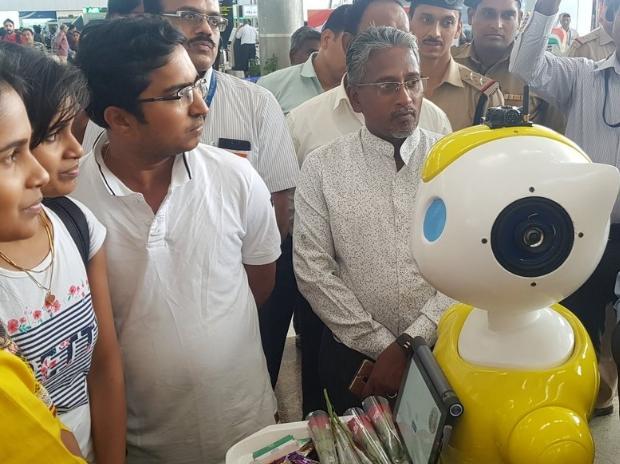 Chennai airport robots