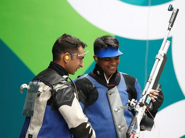 File photo: Deepak Kumar wins silver medal in 10m air rifle event at Asian Games 2018