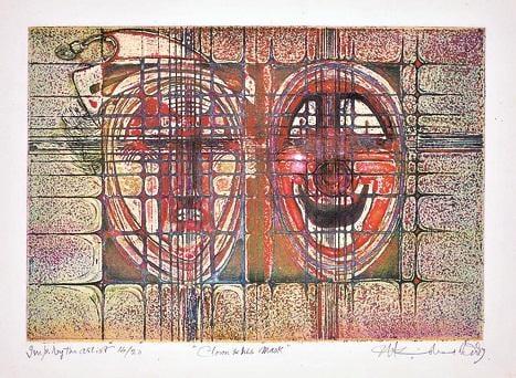 Krishna Reddy, Clown & His Mask, 1979