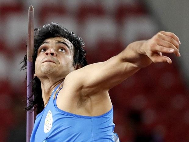 Man with the golden arm: Gold medalist Neeraj Chopra during his javelin throw event (Photo: Reuters)