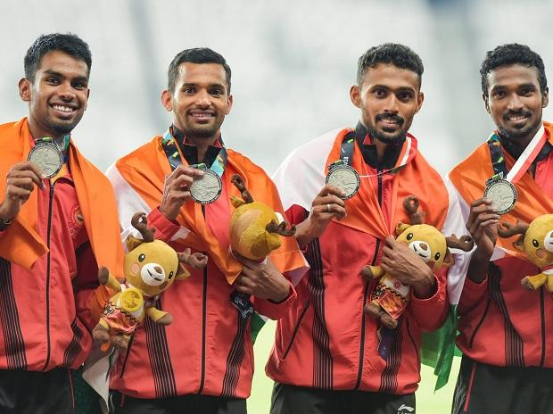 India's 4x400m men's relay team wins silver in Asian Games