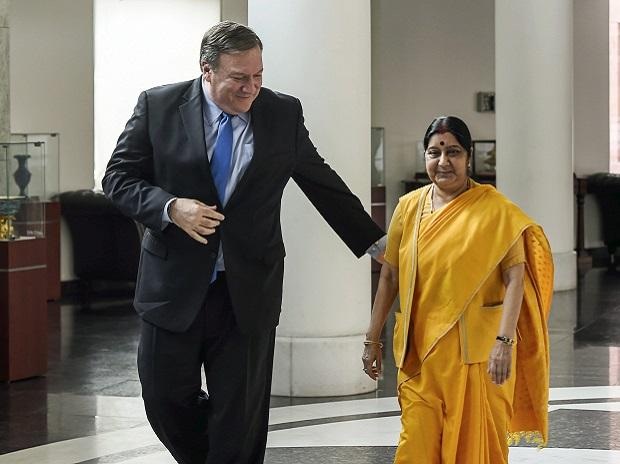 2 2 talks, 2 2 dialogue, India, US, sushma swaraj,,mike pompeo, Money,H-1B visa,America,Indians,Micheal Pompeo,External Affairs Minister,Prime Minister,U.S. Congress,China,President,James Mattis,Secretary,Secretary of State,United States,India,Defenc