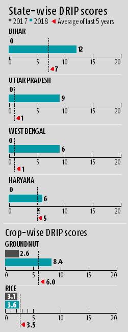 Crisil Drip index: Six states rain-deficient, only two crops smarting