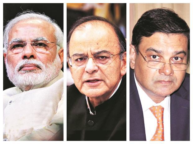 Narendra Modi, Arun Jaitley, Urjit Patel