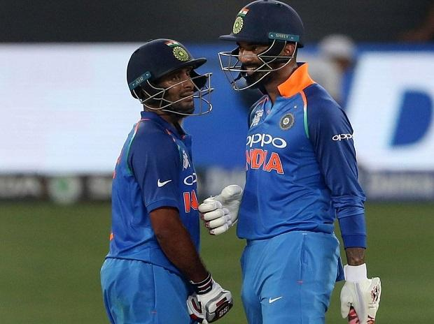 Ambati Rayudu and K L Rahul during 100-run partnership. File Photo: @ICC