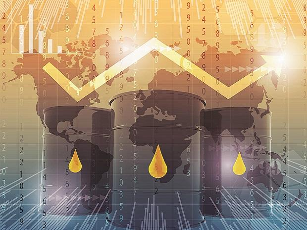 Oil prices slump after large increase in U.S