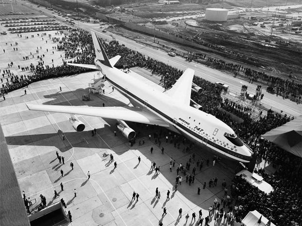 The prototype 747 was first displayed to the public on Sept. 30, 1968