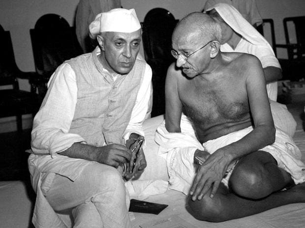 Nehru and Mahatma Gandhi