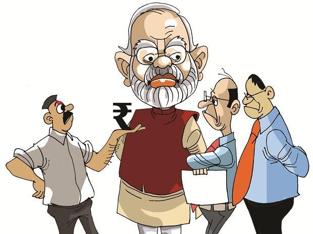 rupee, Narendra Modi