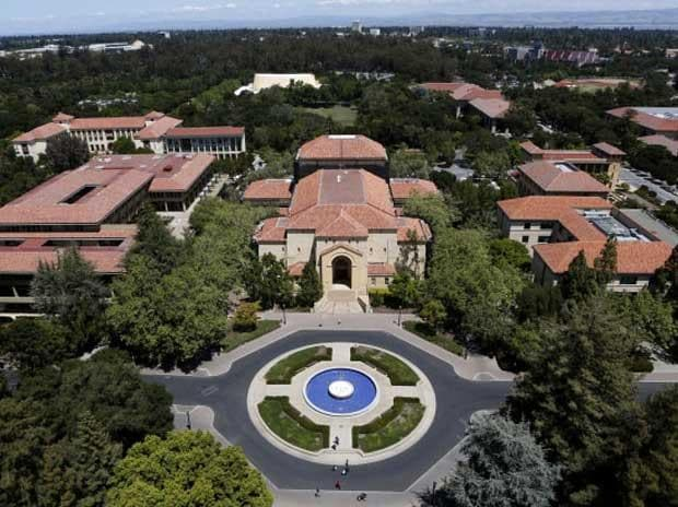 Stanford University's campus is seen from atop Hoover Tower in Stanford, California
