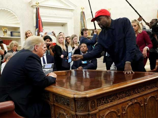 Kanye West with US President Donald Trump