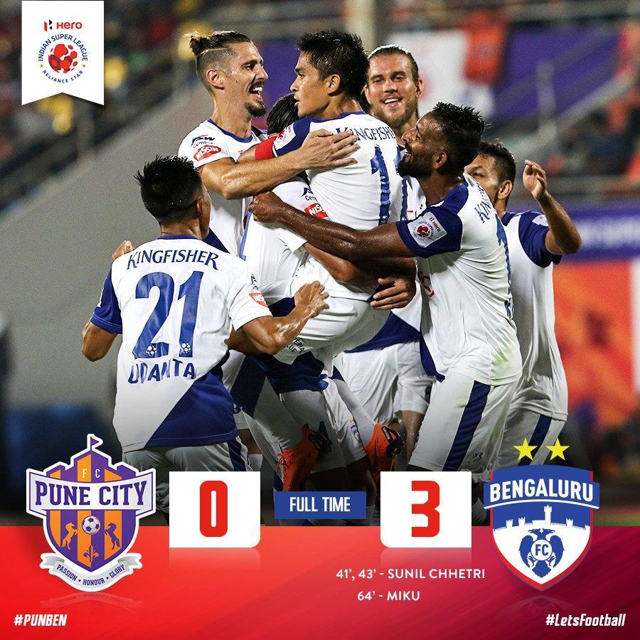 FC Pune City vs Bengaluru FC (Photo: indiansuperleague.com)