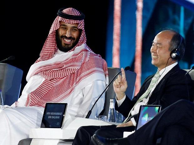 Saudi Crown Prince Mohammed bin Salman and Masayoshi Son, SoftBank Group Chairman