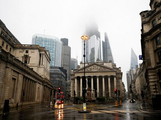 The Bank of England is seen in the financial district during rainy weather in London, Britain  Photo: Reuters