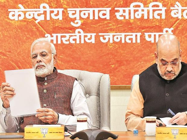 Narendra Modi, BJP President Amit Shah