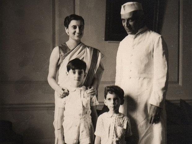 Indira Gandhi, Jawaharlal Nehru, Rajiv Gandhi and Sanjay Gandhi
