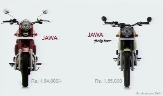 Jawa and Jawa Forty Two - Price, colours and availability