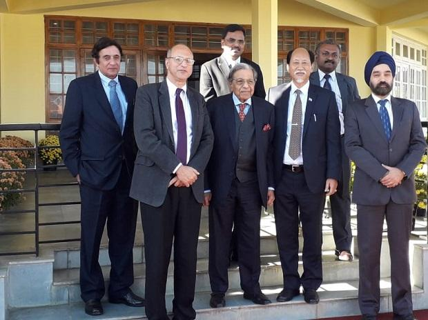 The 15th Finance Commission celebrates its 1st anniversary in Kohima with a meeting with Hon. CM, Nagaland Shri Neiphiu Rio and his cabinet colleagues. (Photo: Finance Commission of India via Twitter @15thFinCom)