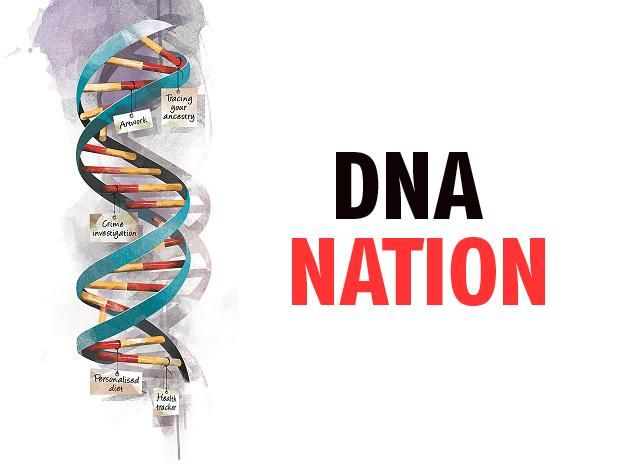There's no law around genetic code, but use of DNA is already widespread