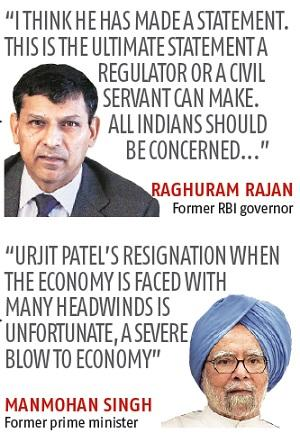 Urjit Patel quits as RBI governor 9 months before his term was to end