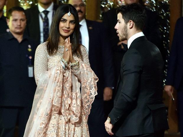Priyanka chopra and nick jonas at Isha ambani wedding