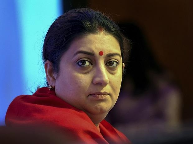 Union Textile Minister Smriti Irani during the inaugural session of the national conclave of  'Accomplishments and Way Forward for Textiles Sector', in New Delhi, Sunday | Photo: PTI
