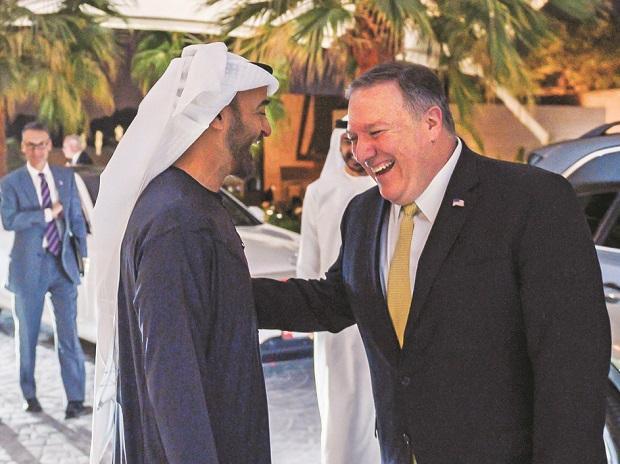 Mike Pompeo, Abu Dhabi's Crown Prince Sheikh Mohammed bin Zayed Al Nahyan