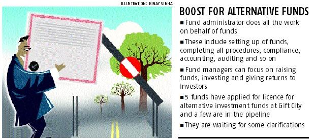 Boost for AIF biz at Gift city as top fund administrator gets license