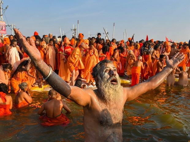 At the break of dawn, chants of 'Har Har Gange' reached its crescendo
