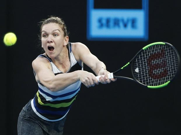 Australian Open- Romania's Simona Halep in action during the match against Serena Williams of the U.S