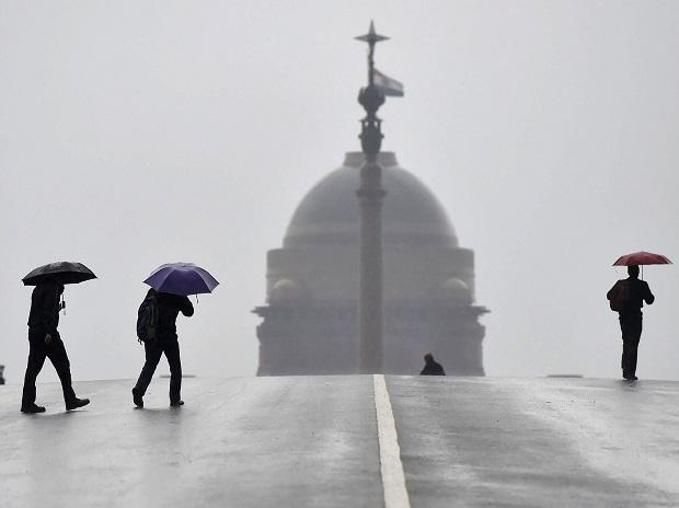 Delhi witnessed heavy rains on Tuesday morning forcing the temperature to drop in several parts of the city