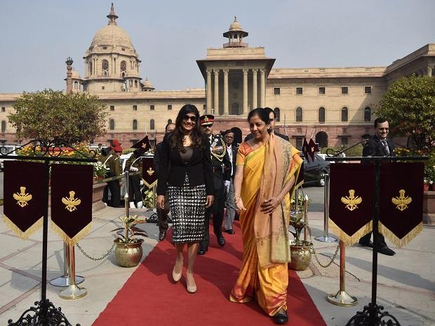 Defence Minister Nirmala Sitharaman welcomes Maldives Defence Minister Mariya Ahmed Didi